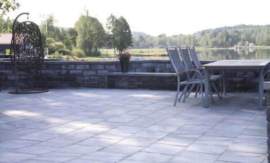 41379 Megawall garden, megatack, cambridge granit 6 skärm