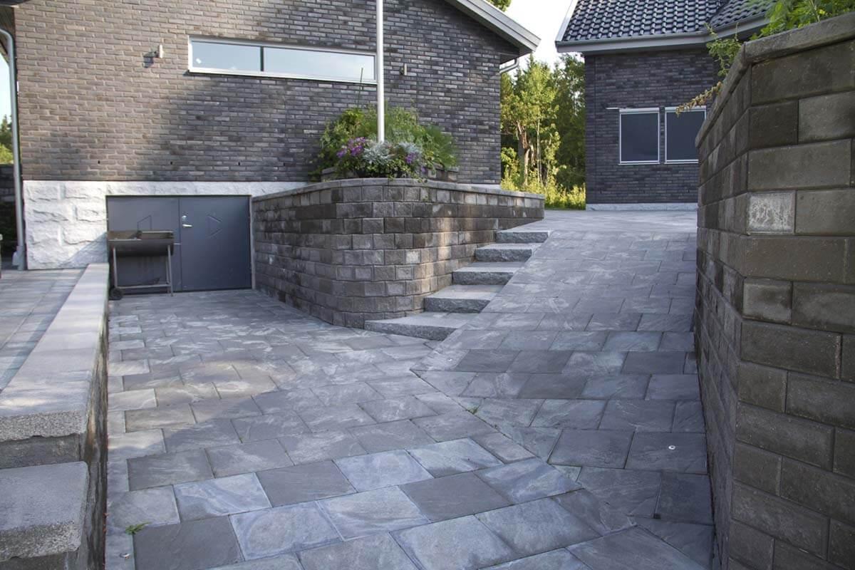 41381 Megawall garden, megatack, cambridge granit 8 skärm